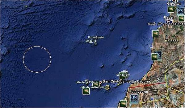 la Atlántida a través de Google Earth
