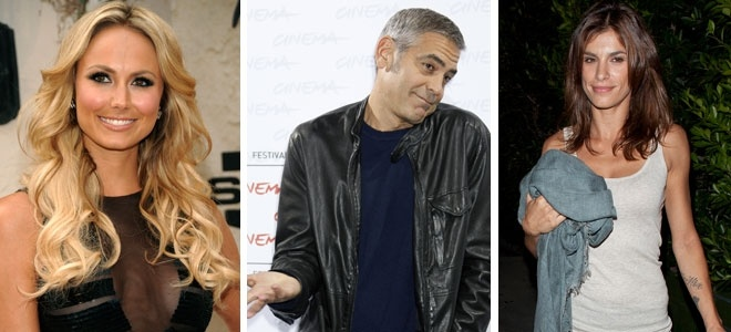 George Clooney sustituye a Elisabetta Canalis por una luchadora de wrestling 2