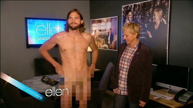 Ashton Kutcher responde a Demi Moore con un desnudo integral 2