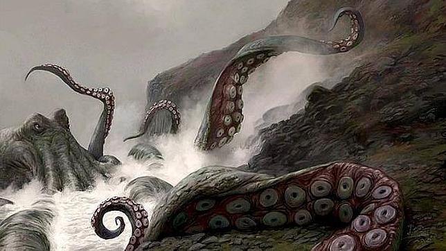 Se trata de un monstruo marino de 30 metros, quizás un pulpo o calamar gigantes, capaz de devorar a los mayores depredadores de la época