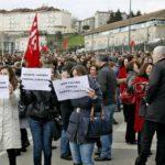 Concentraciones de protesta de miles de funcionarios en toda Galicia 4
