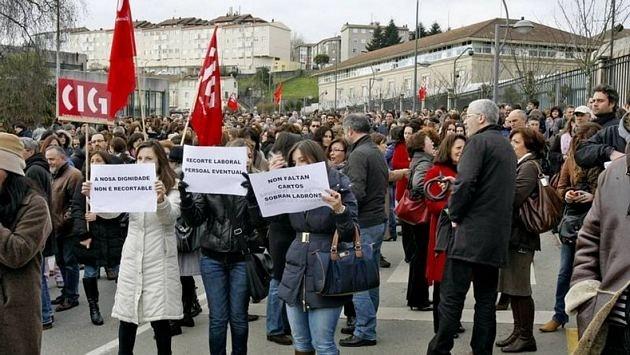 Concentraciones de protesta de miles de funcionarios en toda Galicia 13