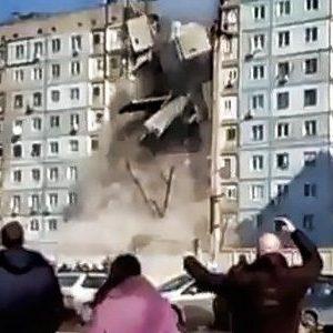 Impresionante video: explosión derrumba edificio en Rusia 22