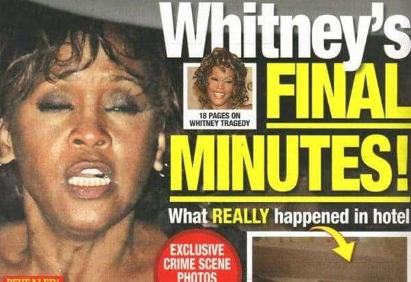 noticias fotos de Whitney Houston muerta
