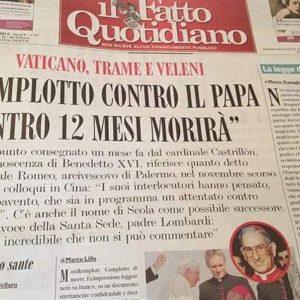 Una carta anónima advierte que el Papa morirá en 12 meses por un complot 25