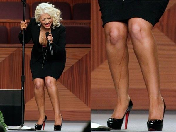 Christina Aguilera sufrió un vergonzoso percance en el funeral de Etta James 6