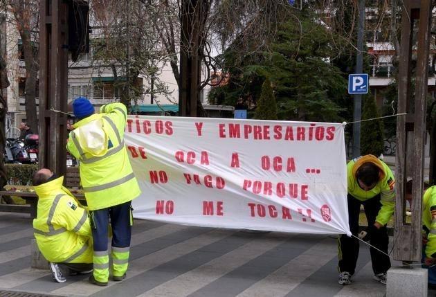 Los trabajadores de transporte sanitario de Guadalajara siguen su protesta 10
