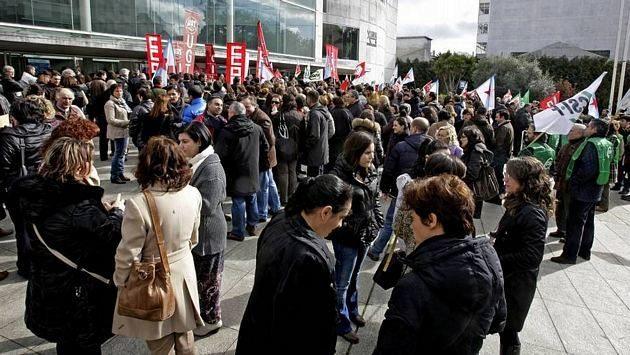 Concentraciones de protesta de miles de funcionarios en toda Galicia 17
