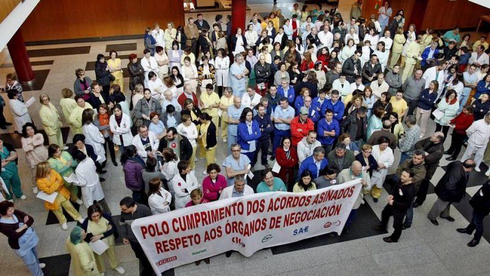 Concentraciones de protesta de miles de funcionarios en toda Galicia 18