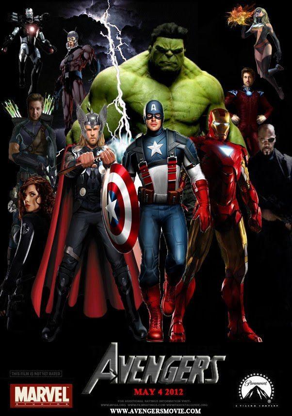 Cartel Los Vengadores 2012