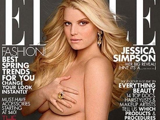 Jessica Simpson posa desnuda y embarazada 1