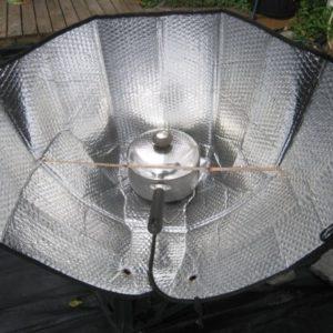 Manual para crear una cocina solar con un parasol de coche 26