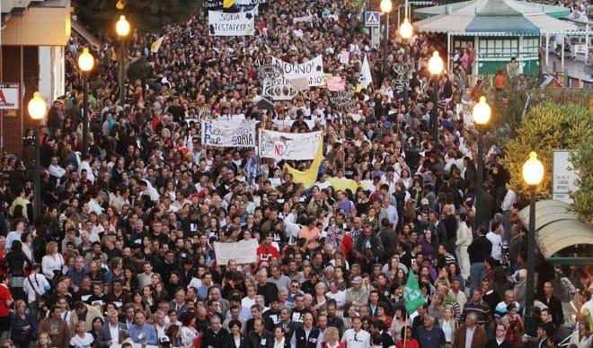 Protesta contra Repsol en Canarias