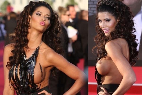 Micaela Schaefer, casi desnuda en el estreno de Men in Black 3 2