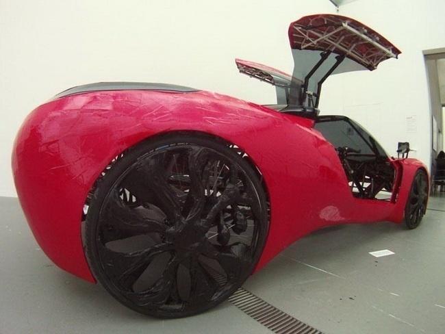 8c9ca86295c2bfde389cce56a0344d42 - Fahrradi Farfall FFX, un coche con aspecto de Ferrari a pedales