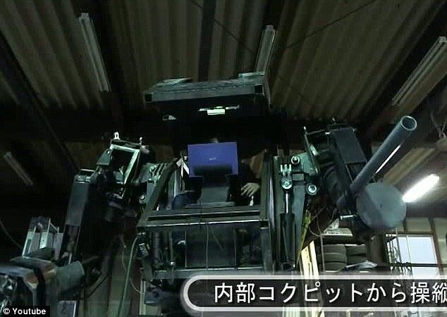 Japoneses crean una replica real del robot Mecha de Ciencia Ficción 9