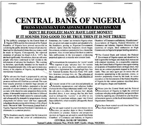 Estafa Nigeriana