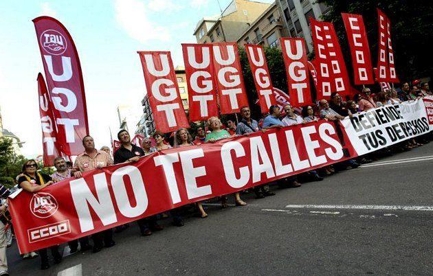 Protestas contra Rajoy y el PP