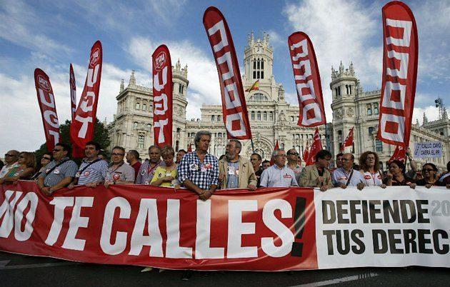 Protestas contra Mariano Rajoy, sus recortes y el PP