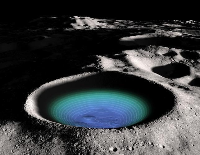 883de87c16d2ddb39a1cada7b7a71e1e - ¿Hielo en un cráter de la Luna?