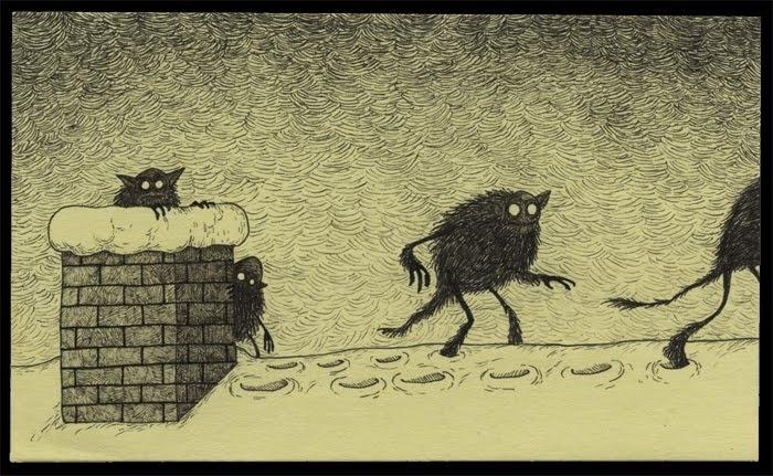 """f3ab6469d324023f0d0d8be4b64a3574 - """"Pos–It Monsters"""" El arte de dibujar monstruos en post-it de John Kenn"""