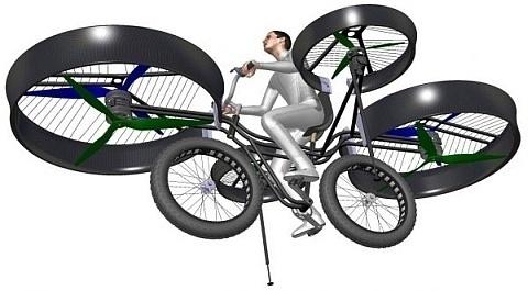 La primera bicicleta voladora (vídeo) 9
