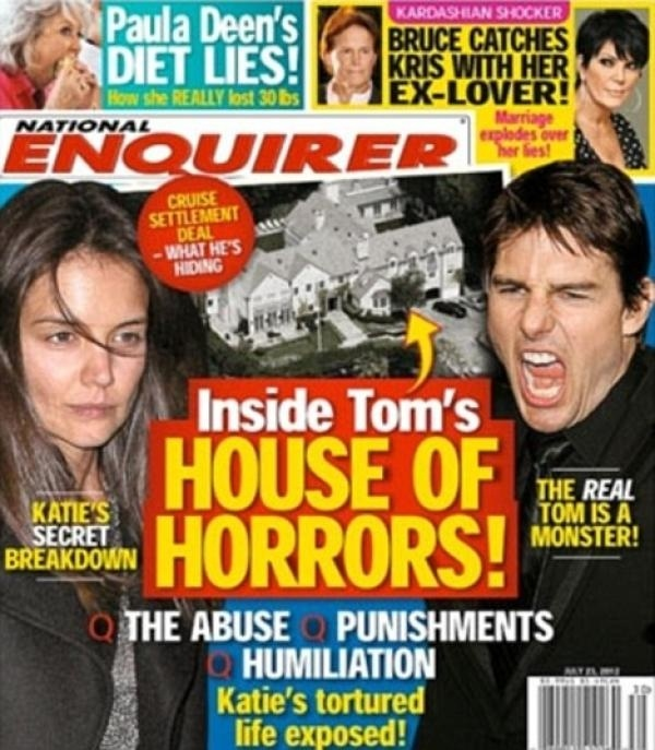 """49b2c950ce9e2f049e3aeda26c14e05f - """"La casa del horror"""" de Katie y el """"monstruo"""" Tom Cruise"""