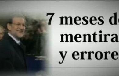 Siete meses de mentiras y errores de Mariano Rajoy 9