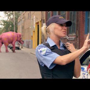 Agente acabo de ver un Elefante rosa con lunares amarillos 5