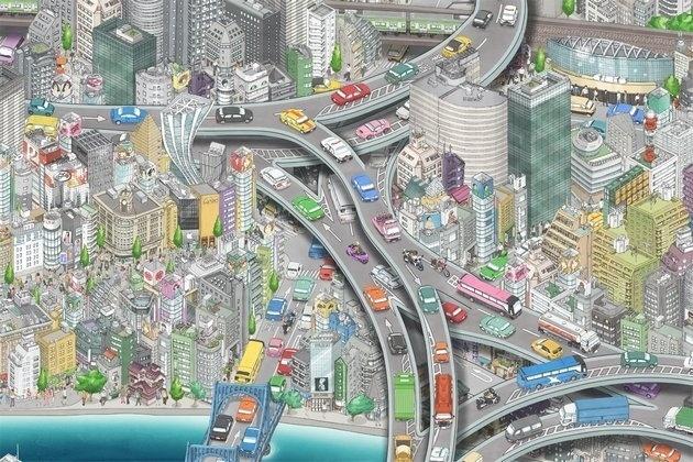 Un mural animado de Tokio tan grande tan grande que ni sus creadores saben todo lo que contiene 13