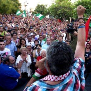 """Mas de 5000 personas gritan """"Gordillo, presidente"""" en la última movilización del SAT 27"""