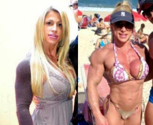 El cambio corporal de una mujer después de años de entrenamiento 18