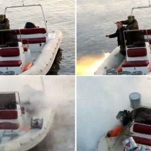 Rusos pescando con una granada casi pierden la vida 26