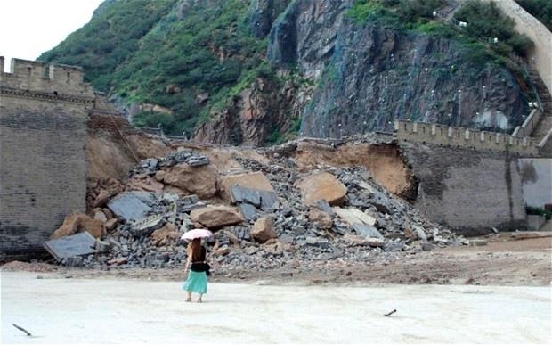 d0670c01e42acfd0f3bbc3520ec34e43 - Obreros provocan el derrumbe de 30 metros de la gran muralla china