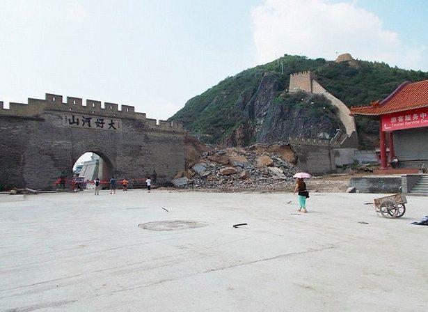 noticias Obreros chapuzas provocan el derrumbe de 30 metros de la gran muralla china