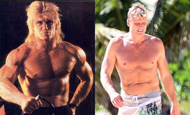 Famosos musculosos antes y después Dolph Lundgren