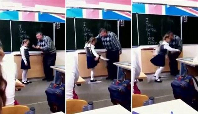 b9deed2baf78623484fc2170479f5cfb - Video: Niña le da una patada en los huevos a profesor que la maltrata