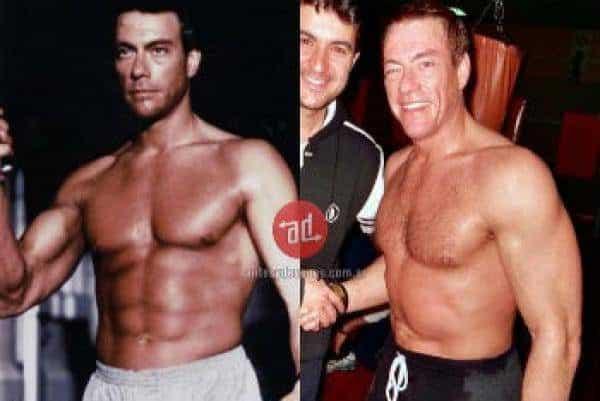Famosos musculosos antes y después