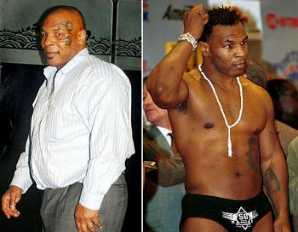 Famosos musculosos antes y después Mike Tyson