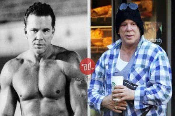 Famosos musculosos antes y después Mickey Rourke