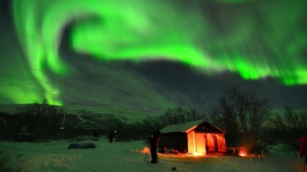 #Video Aurora boreal 13 días de observación en un minuto 13