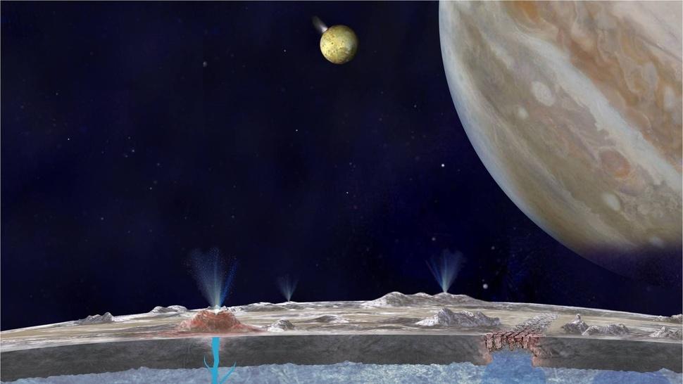 Un vistazo al gigantesco océano subterráneo de Europa, el satélite de Júpiter 9
