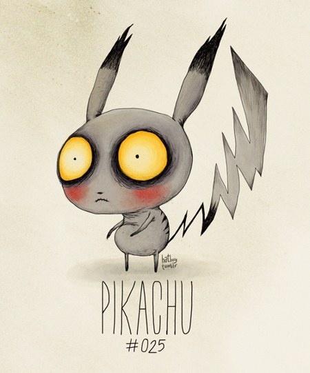 Si Tim Burton diseñase los Pokémon… 11