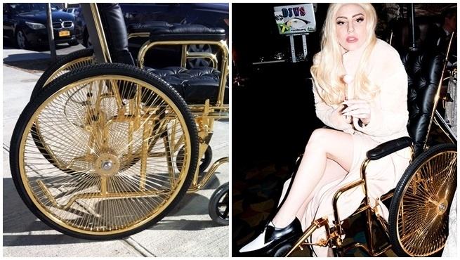 La silla de ruedas de oro de Lady Gaga 11