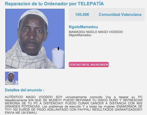 Mamadou Ngolo mago voodoo: la solución a todos tus problemas informáticos 12