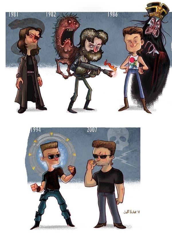 Evolución de los famosos por Jeff Victor 20