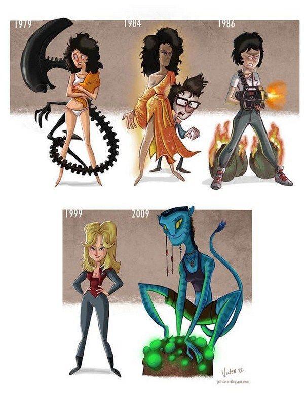 Evolución de los famosos por Jeff Victor 21