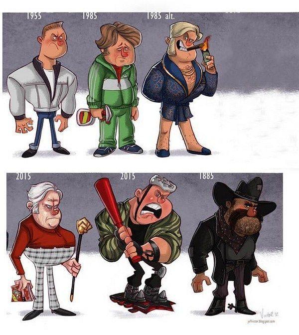 Evolución de los famosos por Jeff Victor 22