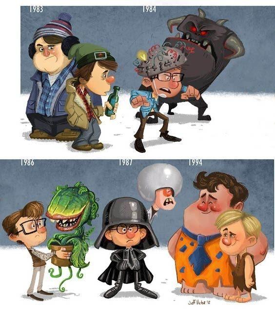 Evolución de los famosos por Jeff Victor 24