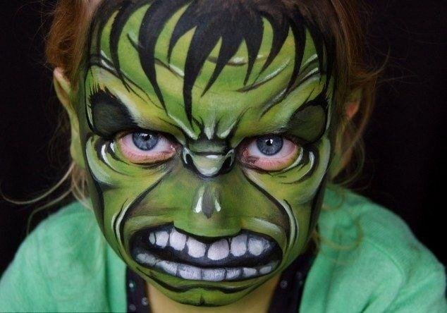 Madre crea arte en las caras de sus hijas 9